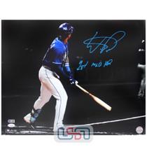 "Wander Franco Rays Autographed ""1st MLB HR"" 16x20 Photo Photograph JSA Auth #9"
