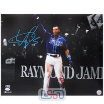 Wander Franco Rays Signed Autographed 16x20 Photo Photograph JSA Auth #10