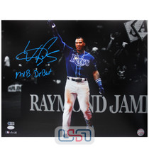 """Wander Franco Rays Autographed """"MLB Debut"""" 16x20 Photo Photograph JSA Auth #10"""