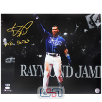 """Wander Franco Rays Autographed """"MLB Debut"""" 16x20 Photo Photograph JSA Auth #11"""