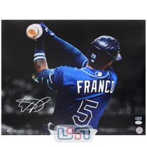 Wander Franco Rays Signed Autographed 16x20 Photo Photograph JSA Auth #15