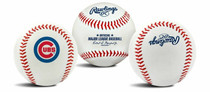 Chicago Cubs Rawlings Team Logo MLB Replica Autograph Baseball