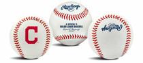 Cleveland Indians Rawlings Team Logo MLB Replica Autograph Baseball
