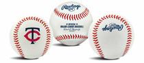Minnesota Twins Rawlings Team Logo MLB Replica Autograph Baseball