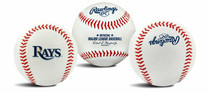 Tampa Bay Rays Rawlings Team Logo MLB Replica Autograph Baseball
