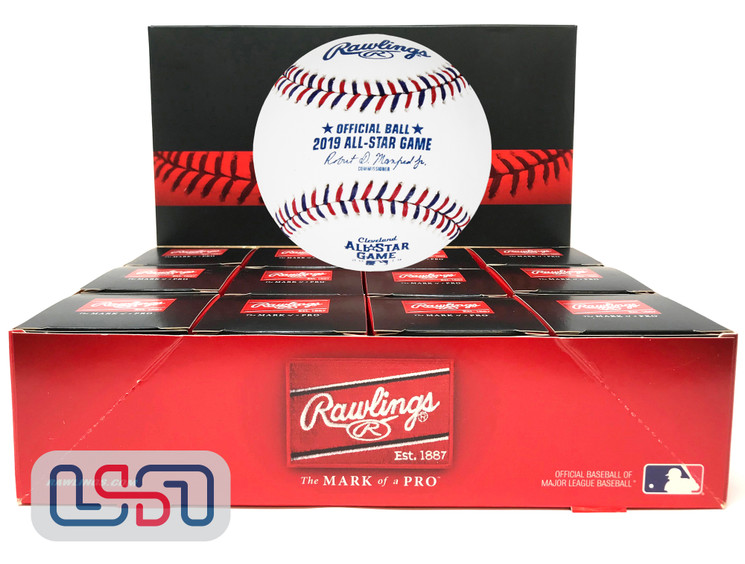 (12) Rawlings 2019 All Star Game MLB Baseball Cleveland Indians Boxed - Dozen