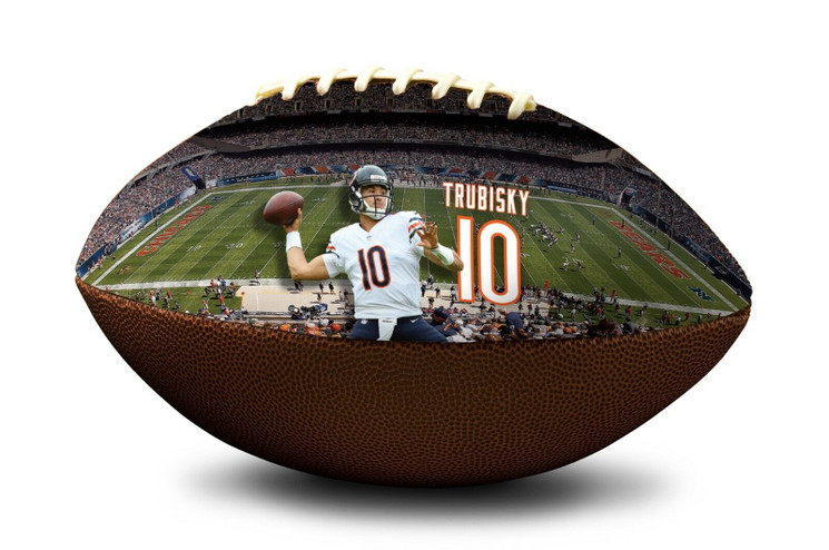 Mitch Trubisky #10 Chicago Bears NFL Full Size Official Licensed Football