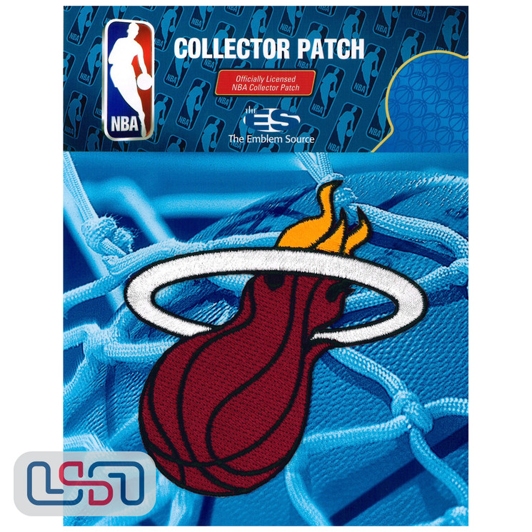 Miami Heat NBA Official Licensed Team Logo Iron Sewn On Jersey Sleeve Patch