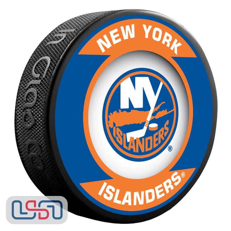New York Islanders Official NHL Retro Team Logo Souvenir Hockey Puck