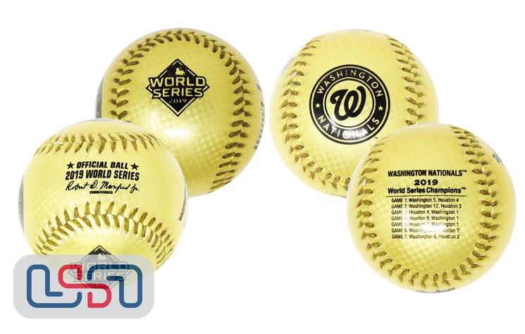 2019 World Series Champions Washington Nationals Rawlings MLB Gold Baseball
