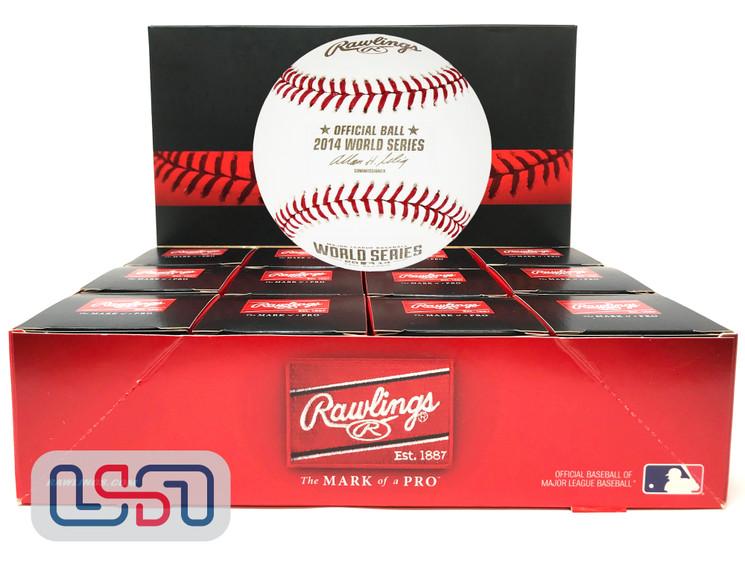 (12) 2014 World Series Official MLB Rawlings Baseball Giants Boxed - Dozen