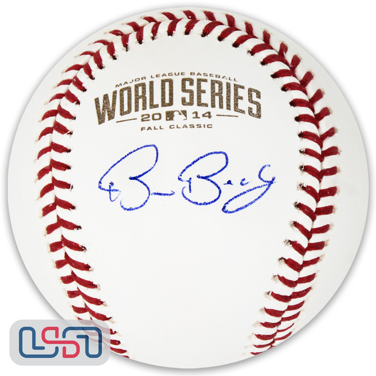 Bruce Bochy Giants Signed Autographed 2014 World Series Game Baseball JSA Auth