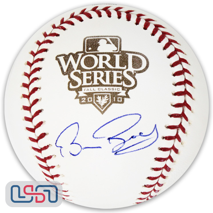 Bruce Bochy Giants Signed Autographed 2010 World Series Game Baseball JSA Auth