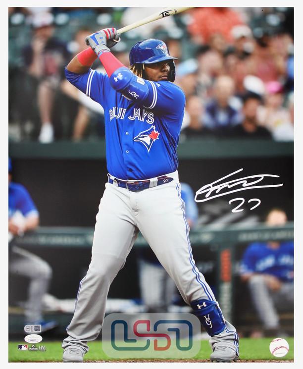 Vladimir Guerrero Jr. Blue Jays Autographed 16x20 Photograph Photo JSA Auth
