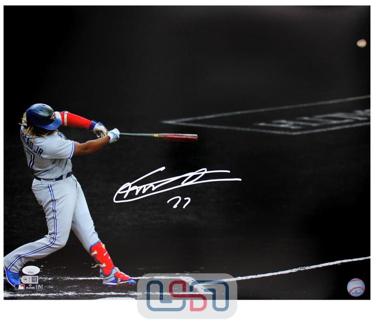 Vladimir Guerrero Jr. Blue Jays Autographed 16x20 Photograph Photo JSA Auth #21