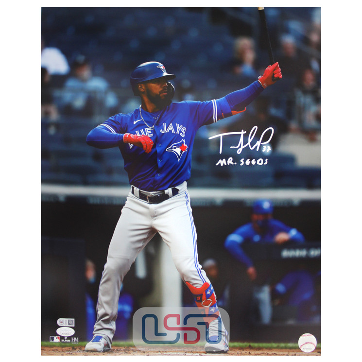 "Teoscar Hernandez Blue Jays Signed ""Mr. Seeds"" 16x20 Photograph JSA Auth #32"