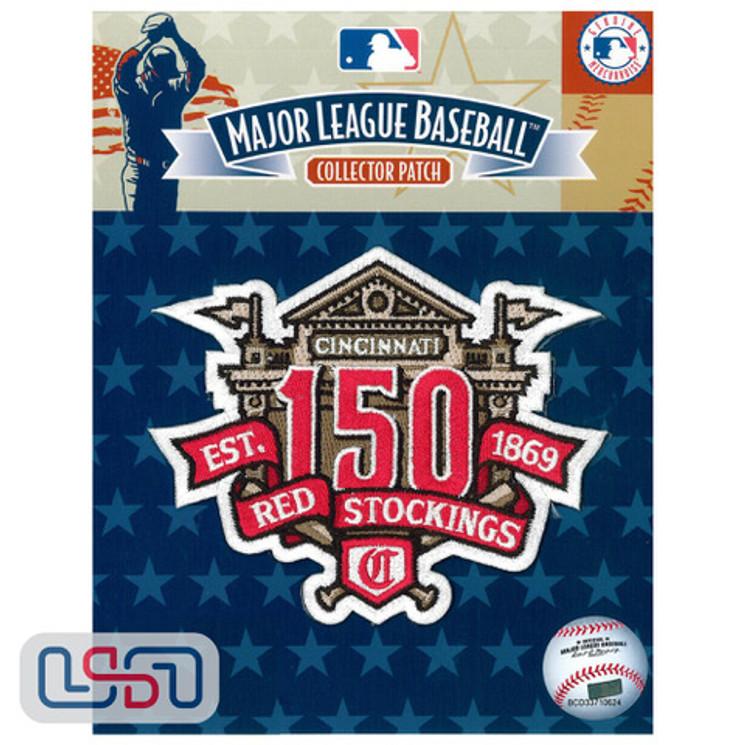 Cincinnati Reds 150th Anniversary Licensed MLB Logo Jersey Sleeve Patch