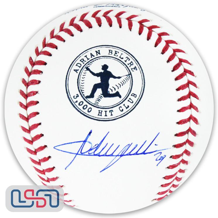 Adrian Beltre Signed Autographed Texas Rangers 3,000 Hit Club Baseball JSA Auth