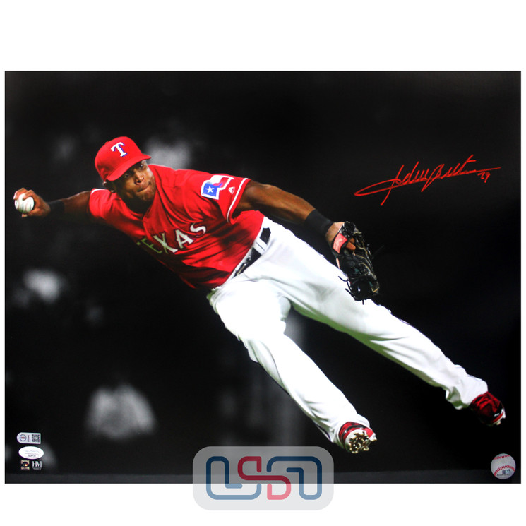 Adrian Beltre Rangers Signed Autographed 16x20 Photo Photograph JSA Auth #4