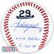 """Adrian Beltre Texas Rangers Signed """"MLB Debut"""" #29 Retirement Baseball JSA Auth"""