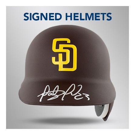 signed autographed helmet