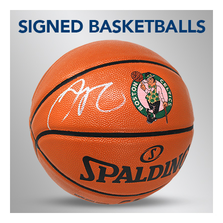 signed autographed basketball