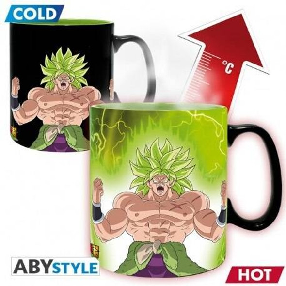 Abystyle Officially Licensed Dragon Ball Z Broly Gogeta Heat Changing Mug 460ml