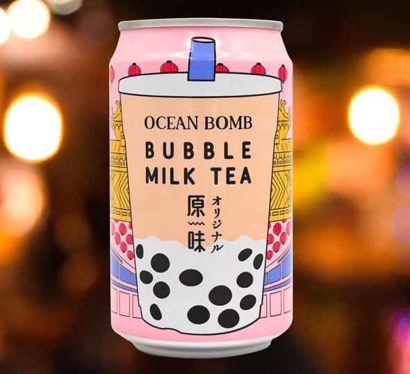 YHB Ocean YBH Ocean Bubble Milk Tea Can Drink 330ml