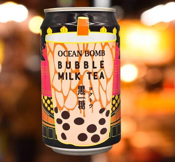 YHB Ocean YBH Ocean Brown Sugar Bubble Milk Tea Can Drink 330ml