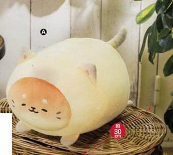 Furyu FuRyu Sanrio Yeast Ken Bread Dog Neko wo Kaburu Cream Big Plush