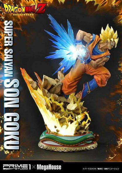 Prime 1 Studio Prime 1 x Megahouse Dragon Ball Z Statue 1/4 Super Saiyan Son Goku 64 cm