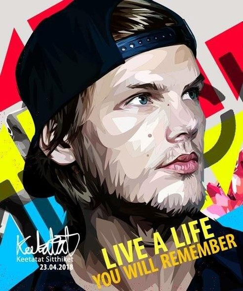 World Famous POPART Famous POP ART Avicii Live a Life you will remember Canvas Frame