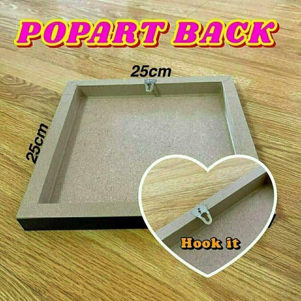 World Famous POPART Famous POP ART Black Panther Ver2 The smart build the bridge Canvas Frame
