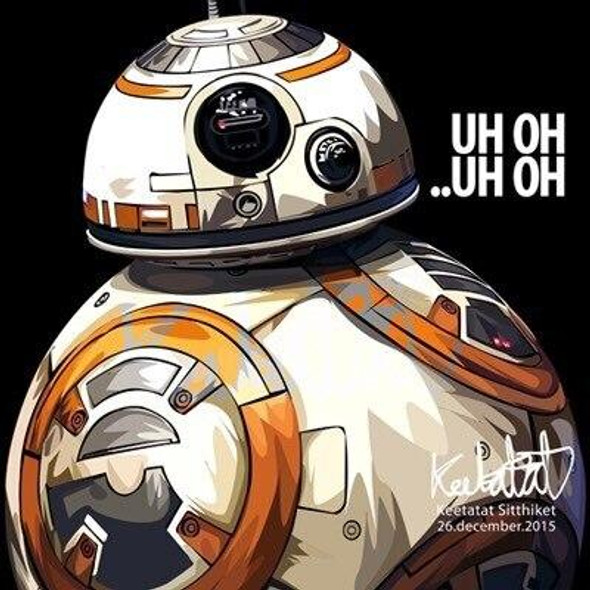 World Famous POPART Famous POP ART BB8 Uh oh uh oh Canvas Frame