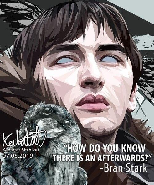 World Famous POPART Famous POP ART Bran Stark How do you know there is an afterwards Canvas Frame