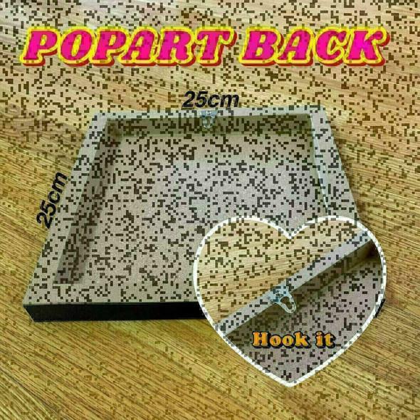 World Famous POPART Famous POP ART Michael Jordan ver2 Some want it to happen others make it happen Canvas Frame