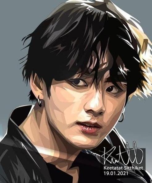 World Famous POPART Famous POP ART BTS Jungkook Canvas Frame