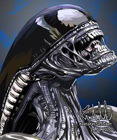 World Famous POPART Famous POP ART Alien Canvas Frame