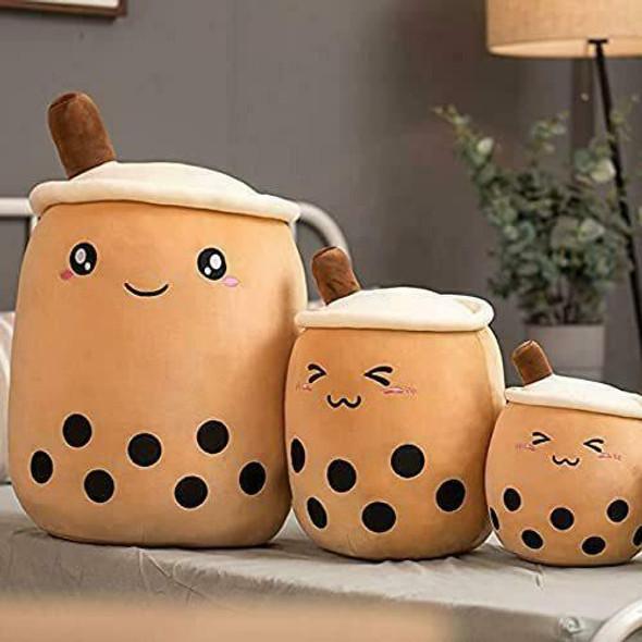 EA-COS BOBA TEA Bubble Milk Tea Pillow Cushion Plush Original Round eEyes