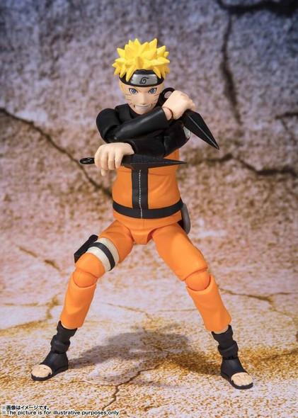 Bandai Tamashii Bandai SH Figuarts Naruto Shippuden Best Select Naruto Uzumaki Action Figure