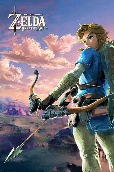 Pyramid International Officially Licensed The Legend of Zelda Breath Of The Wild Hyrule Scene 61 x 91.5cm Poster