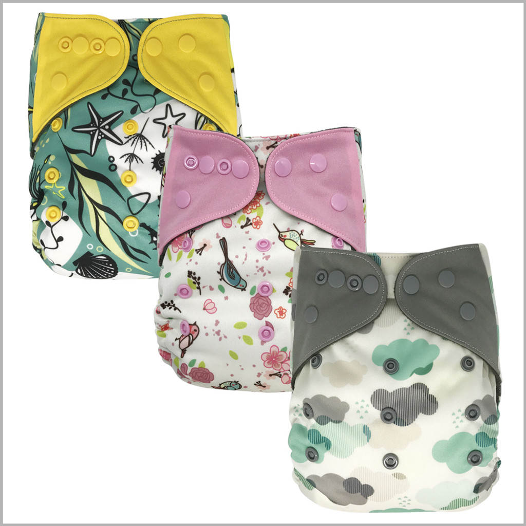 Ecoable - One Size All-in-one Cloth Diaper with Snaps