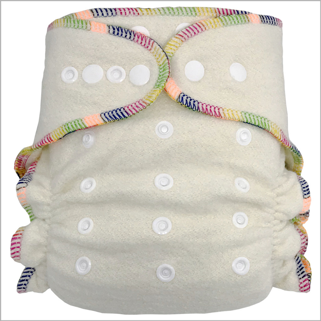 Hemp Night Fitted Cloth Diaper, One Size