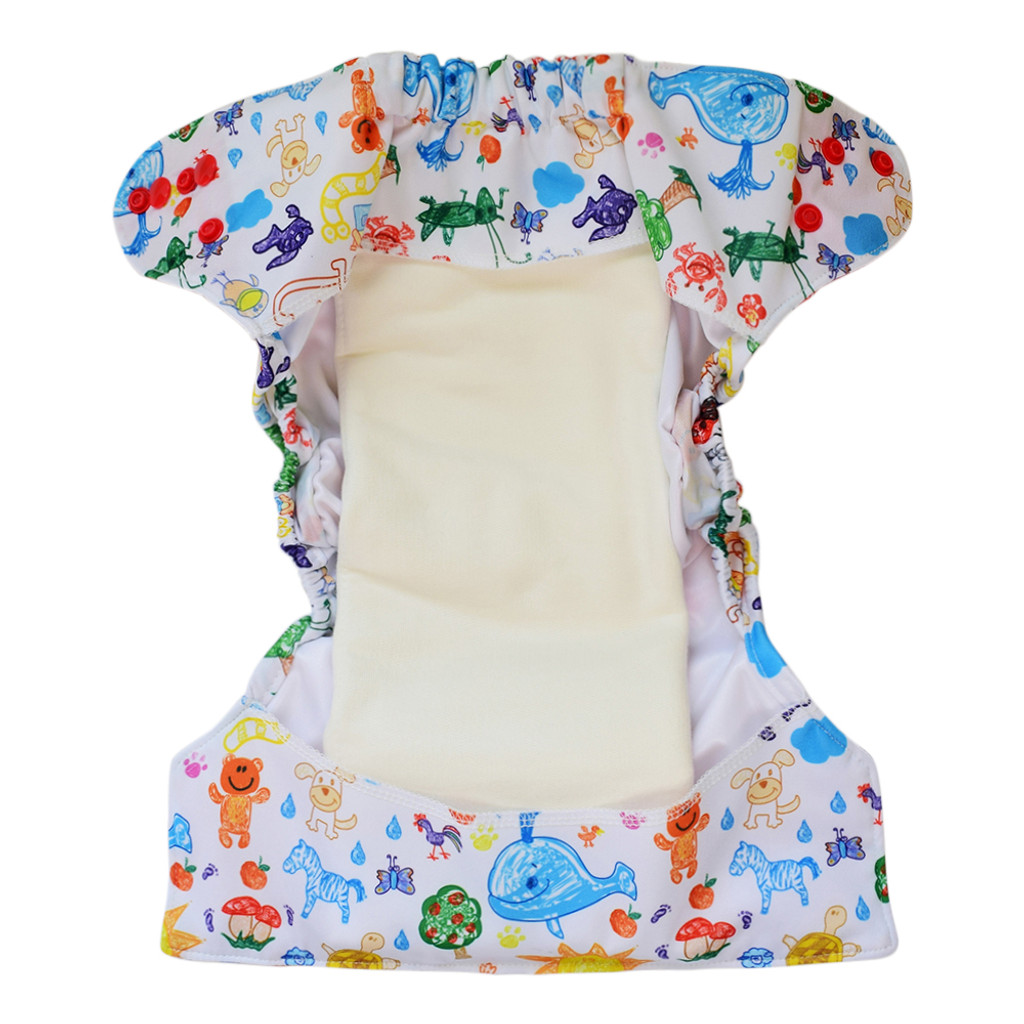 Ecoable - Bamboo Cotton Prefold Inserts for Baby Cloth Diaper Covers