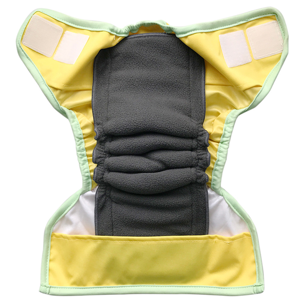 Ecoable - Snap-in Bamboo Inserts with Anti-Leak Gussets for Baby Cloth Diapers