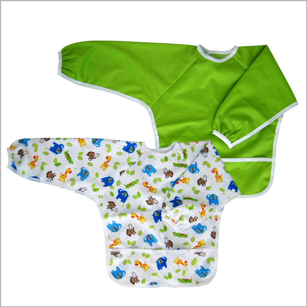 Ecoable - Art Smock for Kids or Long Sleeve Bib for Kids, Large 4-6 Years
