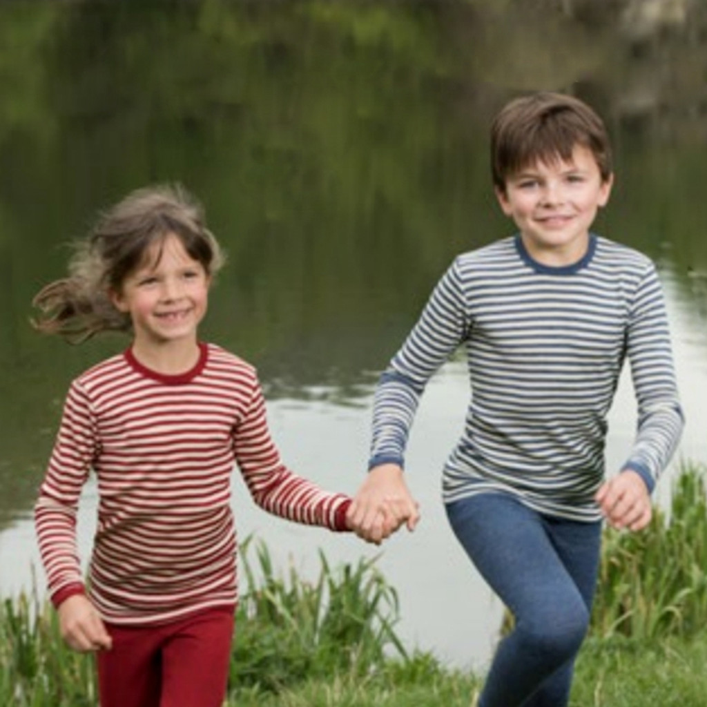 Engel - Kids Long Sleeve Thermal Shirt Base Layer or Pajama Top, 100% Organic Virgin Wool, 2-10 Years