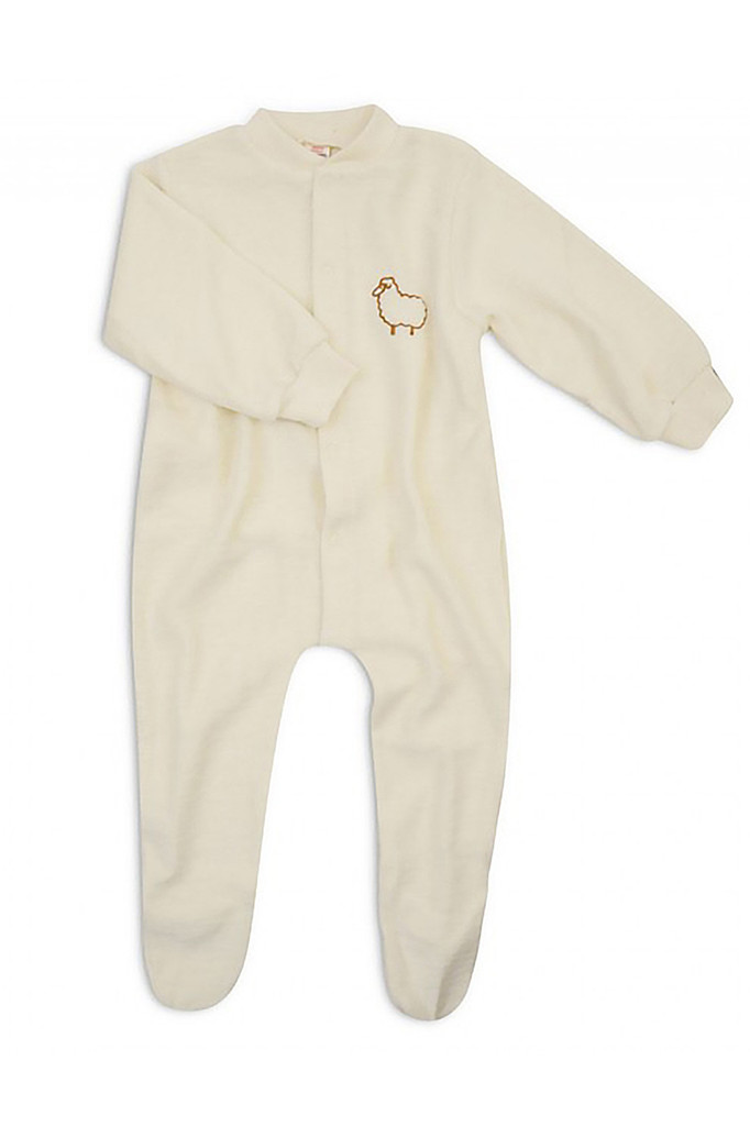 Engel - Baby Footed Romper Overall Pajama with Long Sleeves, 100% Organic Wool Terry, Newborn - 4 Years