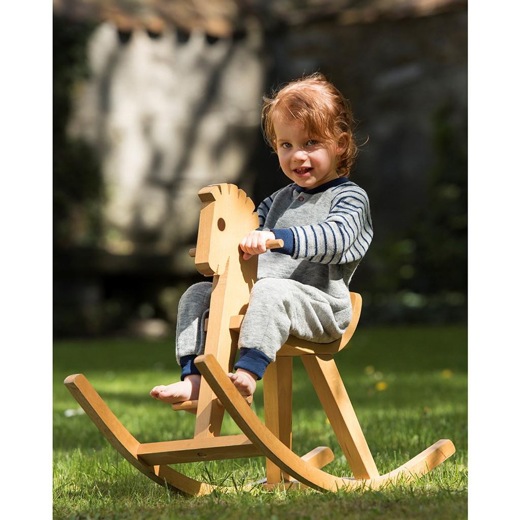 Engel - Baby Romper Overall Pajama with Long Sleeves, 100% Organic Wool Terry, Newborn - 4 Years