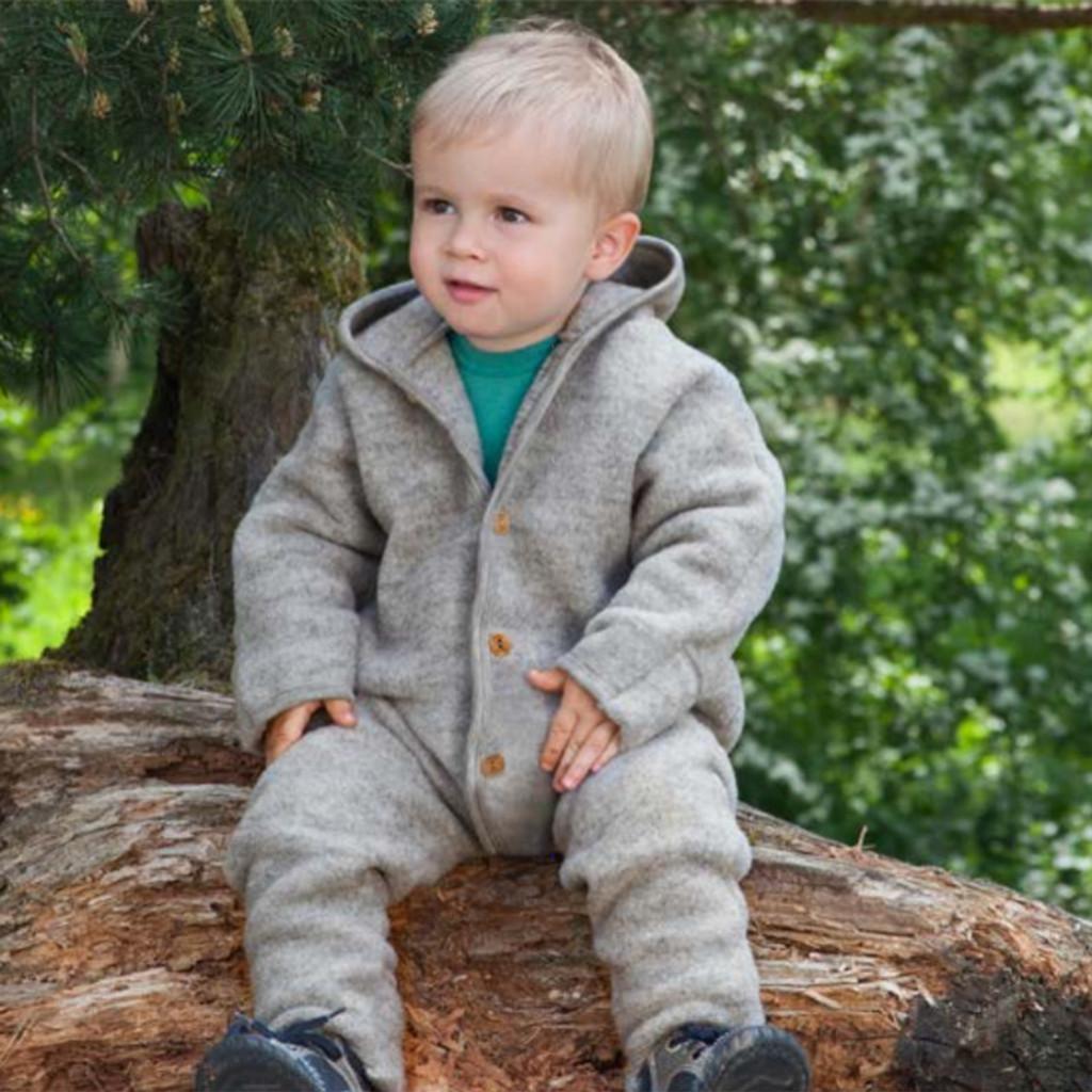ENGEL - Baby Coverall Romper Snowsuit, 100% Organic Wool Fleece, 0-24 Months
